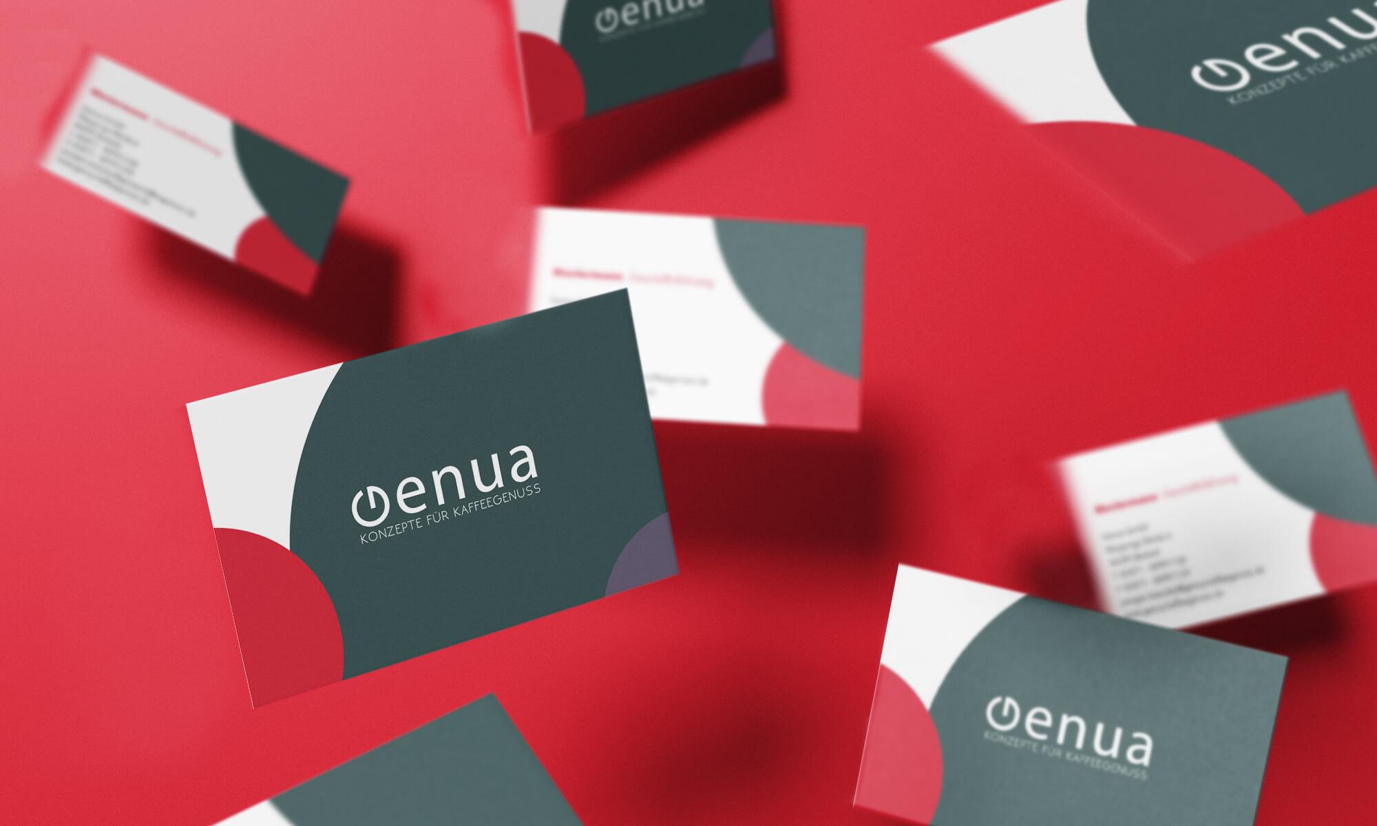 Schau und Horch Visitenkarte Genua - Corporate Identity für Genua