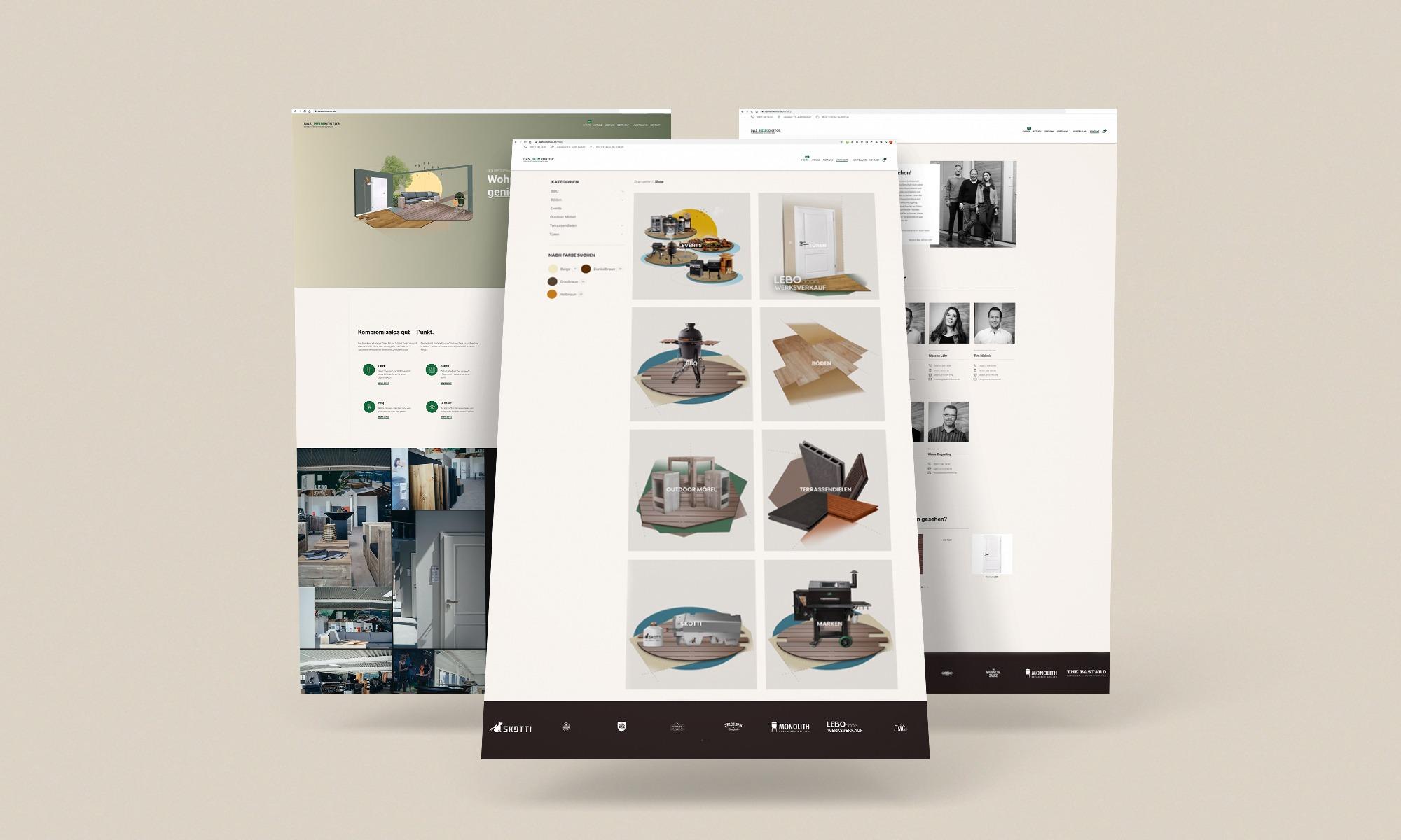 Website DAS Heimkontor 1 - Corporate Identity für DAS_Heimkontor